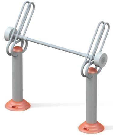 Aparat fitness haltere pentru persoane cu dizabilitati