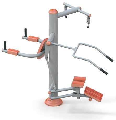 Aparat fitness multifunctional pentru intarirea bratelor si picioarelor