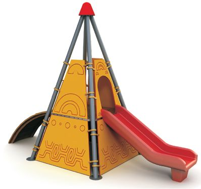 Grup de joaca – Tobogan piramida si rampa urcare