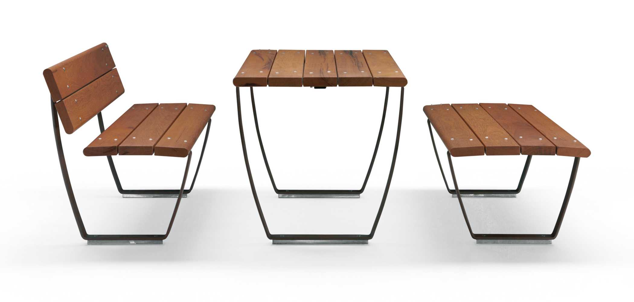 NUVOLA BENCHES AND TABLE