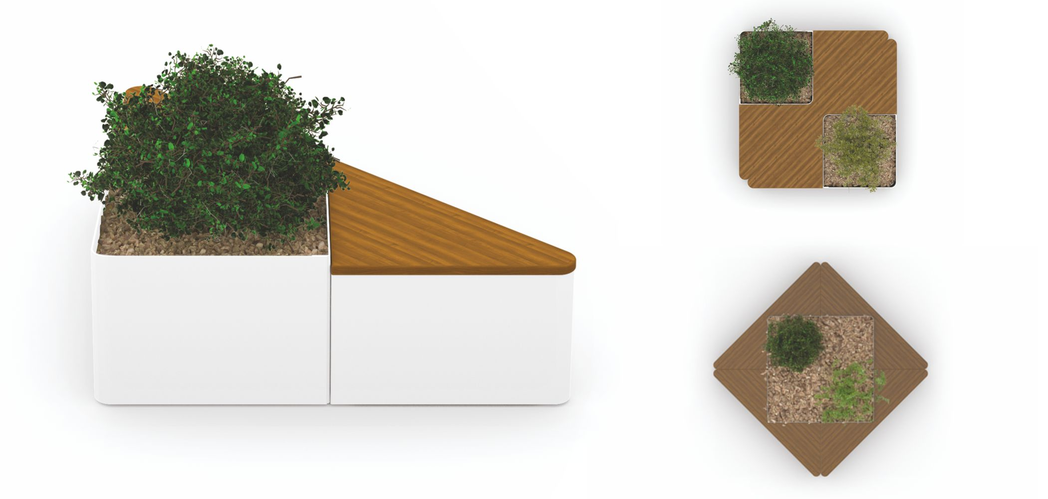 TRIANGLE MODULAR FLOWER BOXES