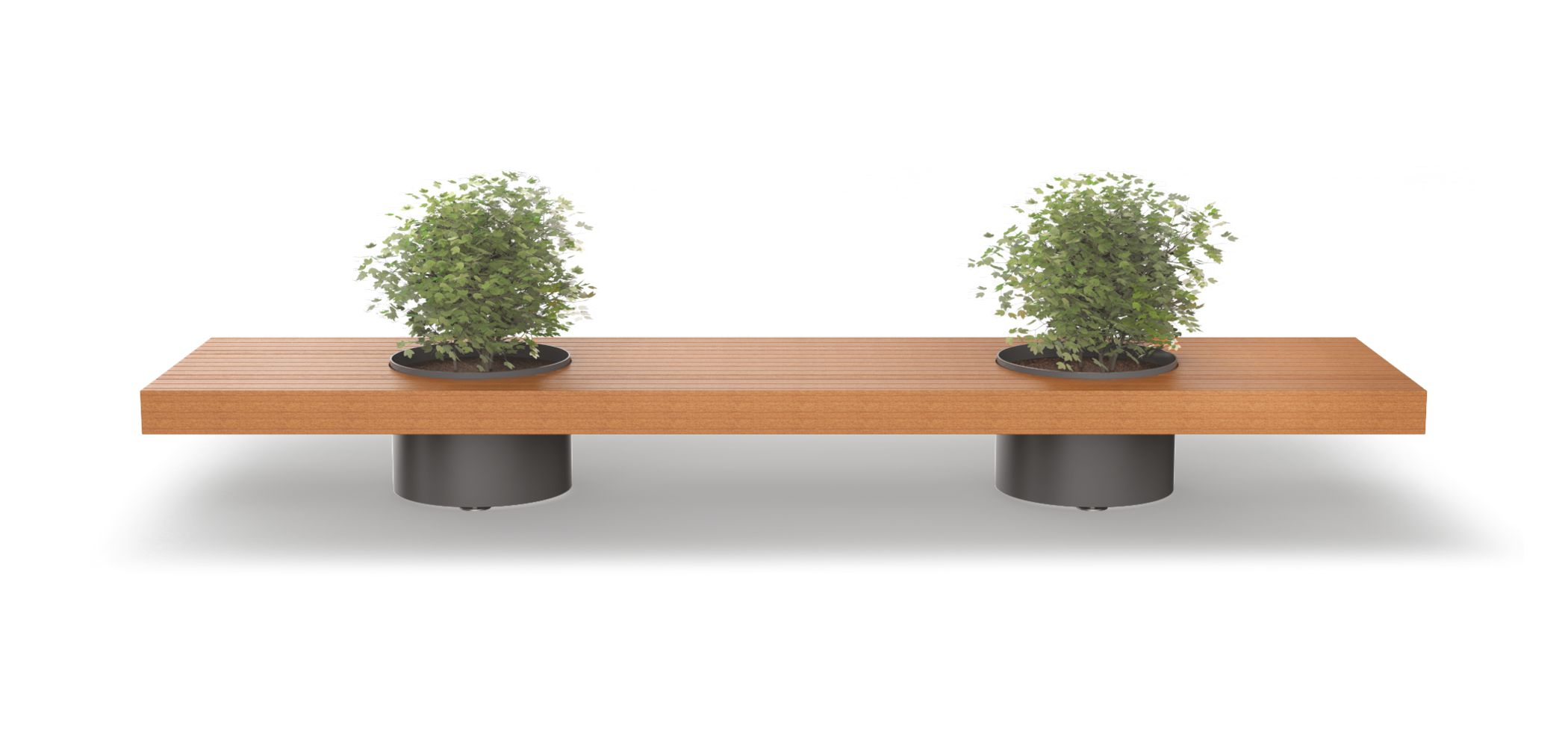 VICTOR BENCH WITH PLANTER